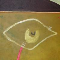 cricket square (acrylic on canvas; 50x40cm) 2006