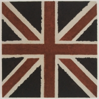 union jack (earth pigments on canvas; 26x26cm) 2009