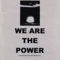 we are the power - poster 1 (inkjet print on paper; 21x30cm) 2009