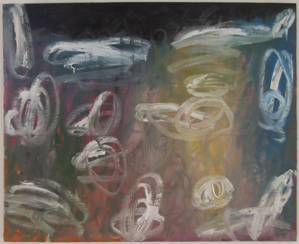 caught in a storm (oil on canvas; 76x61cm) 2009
