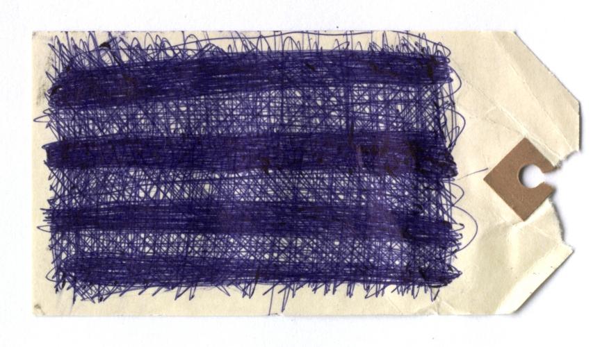 docket 4 (biro on card; 12x6cm) 2009