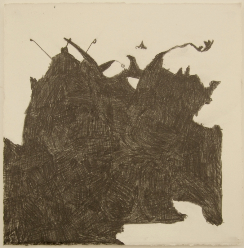 an inkling of life (graphite pencil on paper 38x38cm) 2009