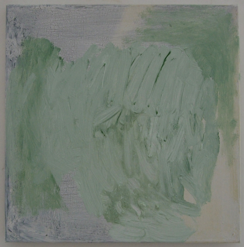 green-and-white-oil-painting (oil on linen; 30x30cm) 2009