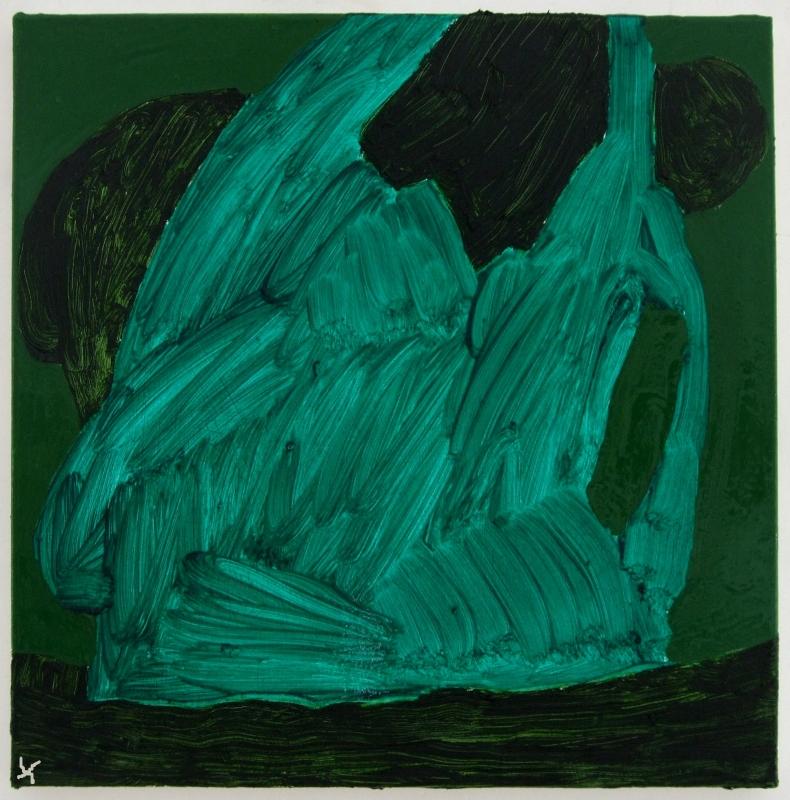 green-oil-painting i (oil on linen; 30x30cm) 2009