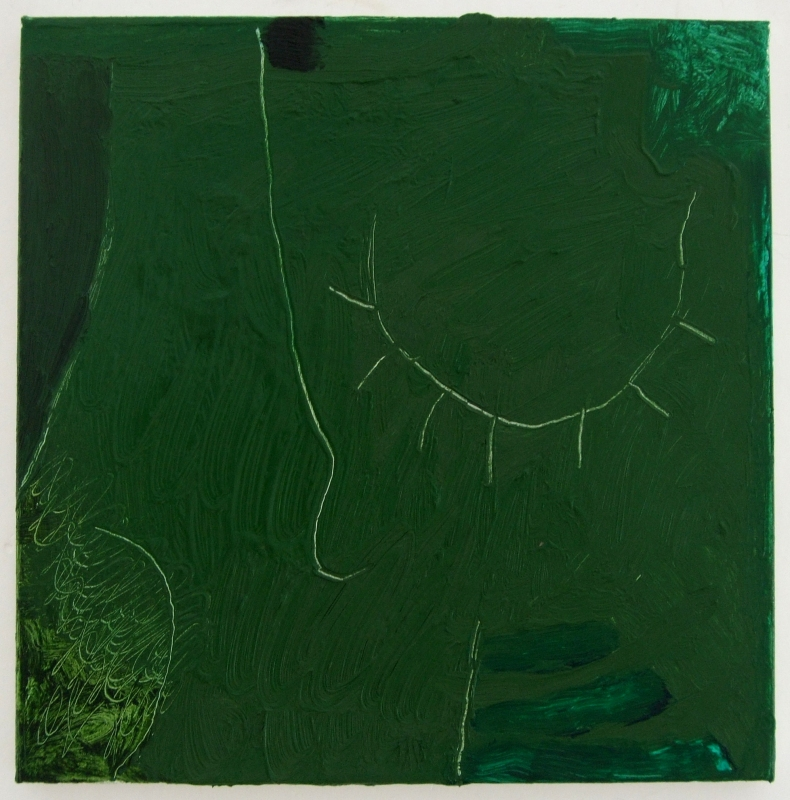 green-oil-painting ii (oil on linen; 30x30cm) 2009