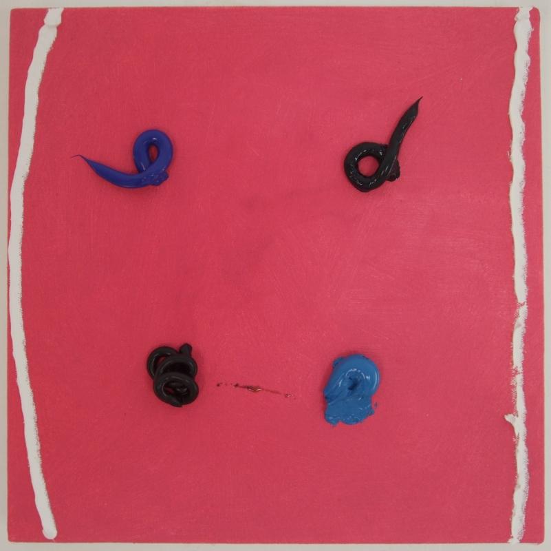 union jack 2 (acrylic and oil on canvas;29x29cm) 2009