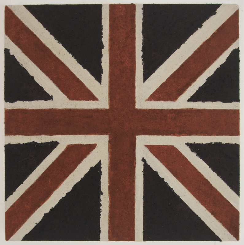 union jack (earth pigments on canvas; 26x26cm) 2009