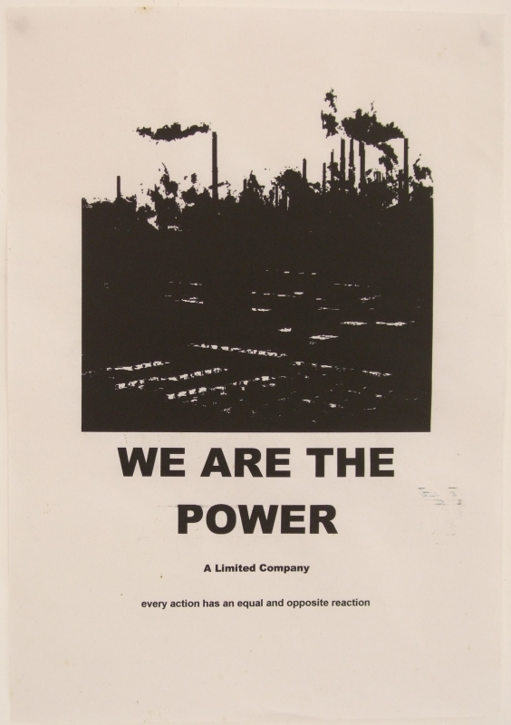 we are the power - poster 2 (inkjet print on paper; 21x30cm) 2009