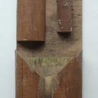 arrowhead (stained offcut wood; 39x16x5cm) © p ward 2010
