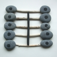 chest (sticks, stones and earth pigments) © p ward 2010