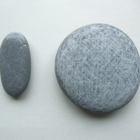 drawing (beach pebbles; 21x16cm) © p ward 2010