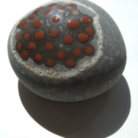 fruit (earth pigments on stone) © p ward 2010