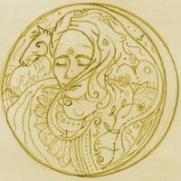 new moon (pencil on paper; 12x12cm) 1993 nfs