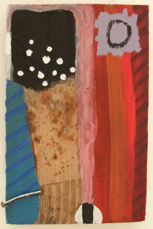 a noise ii (oils and earth pigments on wood; 22x33cm) 2008