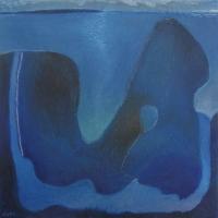 blue lagoon (oil on canvas; 30x30cm) 2007