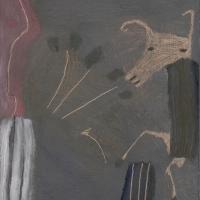 dancing beast (oil on board; 11.5x15.5cm) 2007
