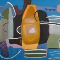 blue butterflies on the burrows be (oil on canvas; 79x92cm) 2007 sold