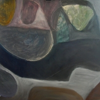 searching for the blue ray limpet (oil on board; 74x61cm; 2007)