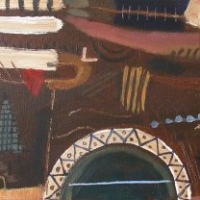 old barum (acrylic on canvas;25x60cm;2006)