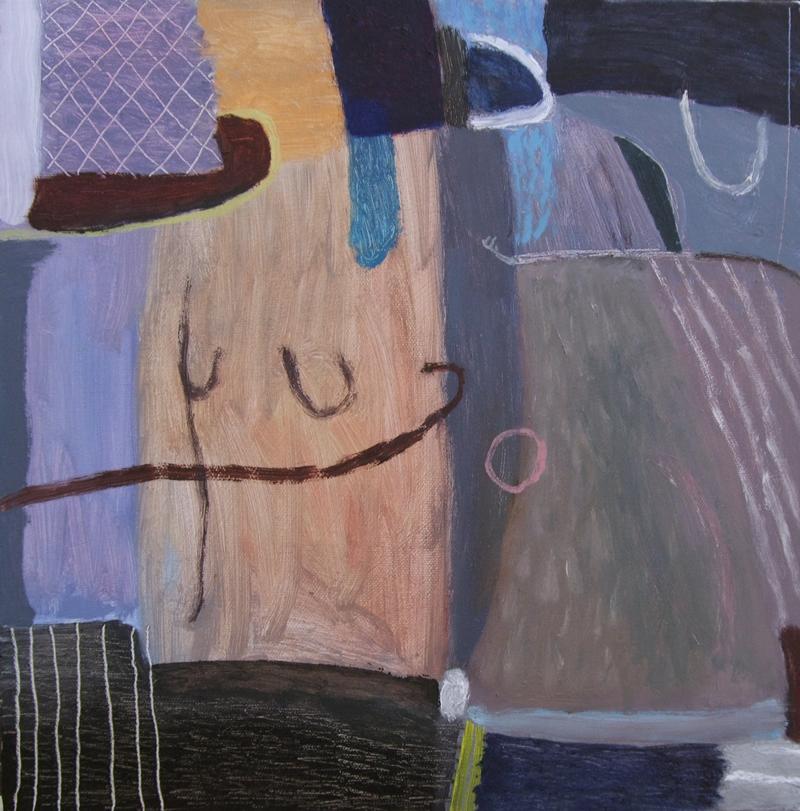 drawn back (oil on canvas; 40x40cm; 2008)