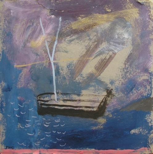 sea bass boat (acrylic on card; 30x30cm; 2007)
