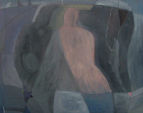 walking through stone (oil on canvas board; 50x40cm; 2007)
