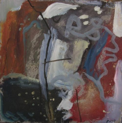 devon expression I (acrylic on card; 30x30cm) 2007