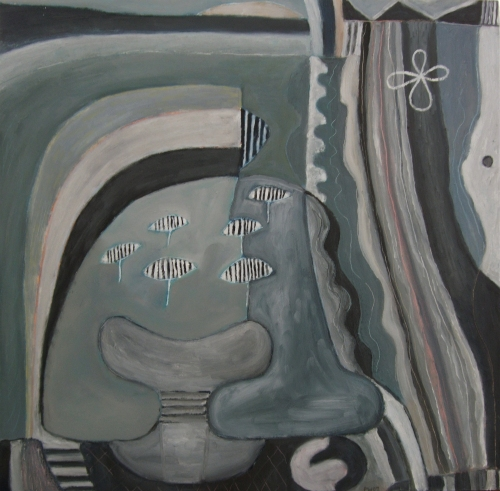 sleeping with basking sharks (oil on board; 63x61cm; 2007)