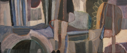 belief in science (oil on canvas; 60x25cm; 2007)