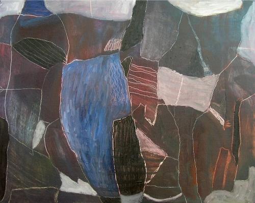 glimpse the ocean (oil on canvas board; 40x50cm; 2007)