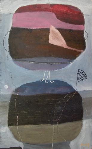 fishingman (oil on wood; 41x25cm; 2007)