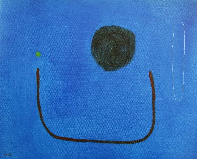 eclipse (oil and earth pigments on canvas; 40x50cm) 2008