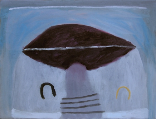 saying nothing (oil on canvas; 40x31cm; 2008)