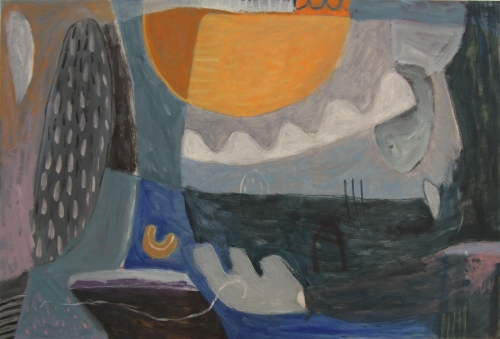 seeing a dolphin where there should not be one (oil on canvas; 91x61cm; 2008)