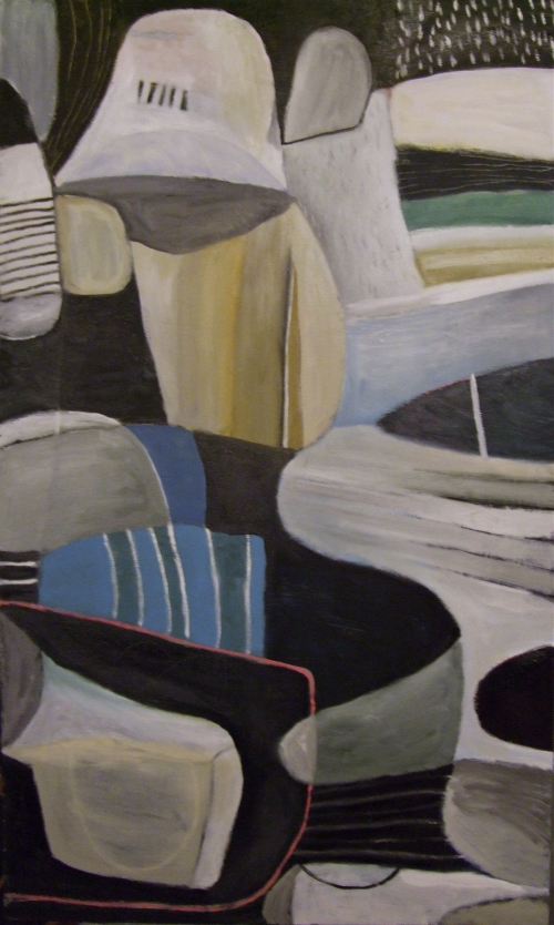 becoming a beach (oil on canvas; 69x115cm; 2008)