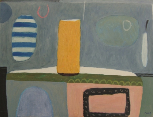 quiet day on the estuary (oil on board; 61x46cm) 2007