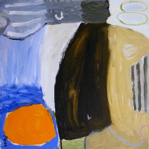 windy walk (oil on canvas; 40x40cm; 2008)