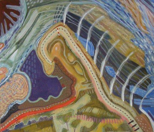 crow point (acrylic on card; 50x59cm; 2006)