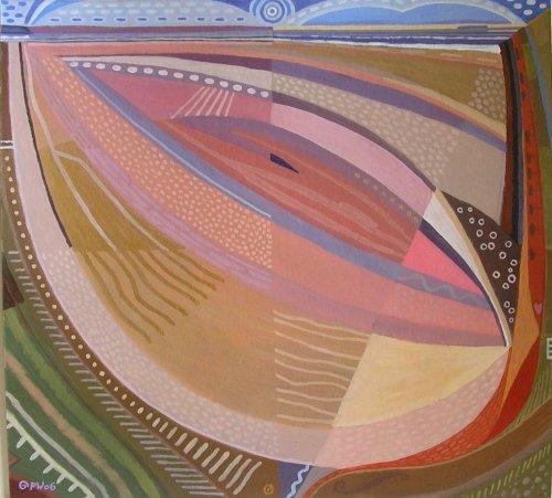 pink saunton (acrylic on card; 54x59cm; 2006)
