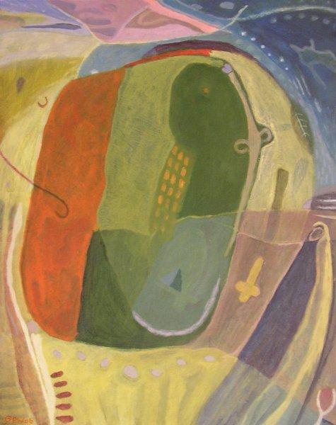 old friend (acrylic on card; 53x42cm; 2006)