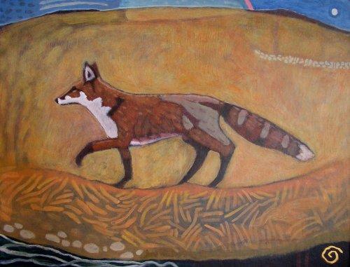 exmoor fox (acrylic on card; 50x65cm; 2006)