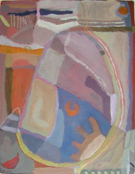 sunbathing (acrylic; 38x30cm; 2006)