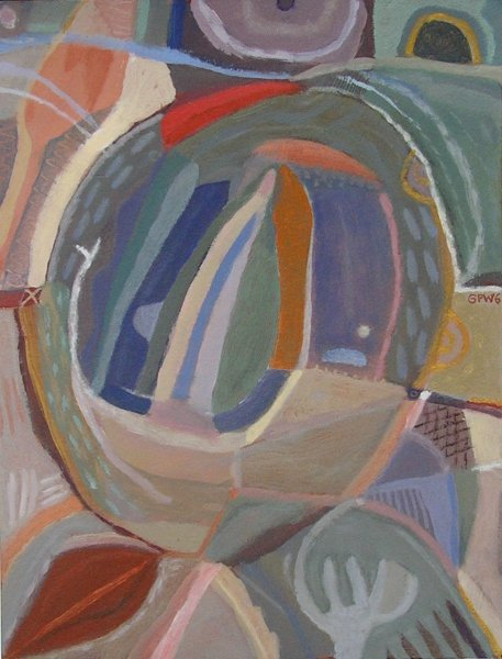 journey to puffin island (acrylic on paper; 21x30cm) 2006
