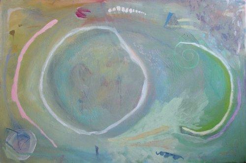 walking on the beach (acrylic on canvas; 60x90cm; 2006)