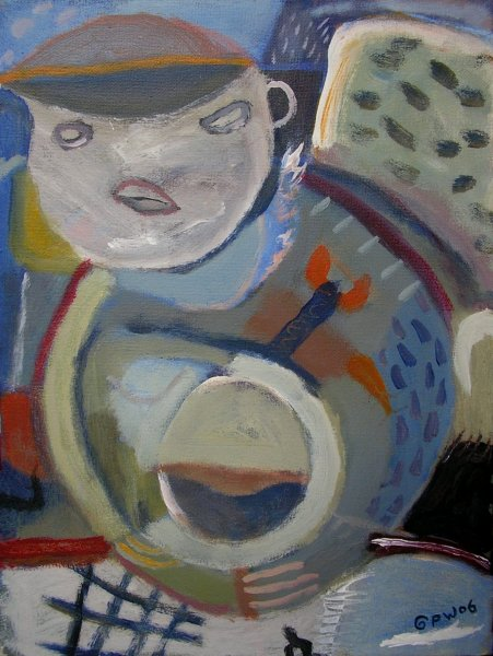 coming home with treasure (acrylic on canvas; 40x30cm; 2006)