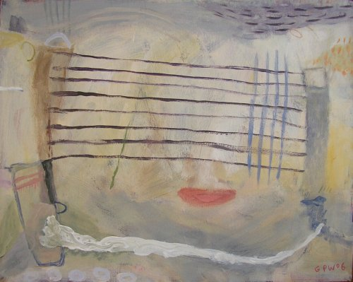 seine net (acrylic on canvas; 40x50cm; 2006)