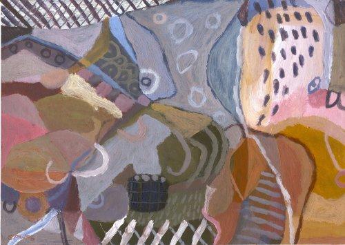 raining outside (acrylic on card; 21x30cm; 2006)