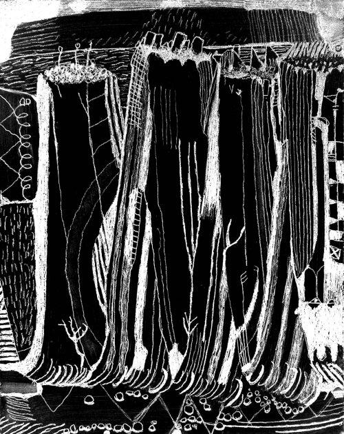 sea cliffs (digital image from pencil on board;2007)