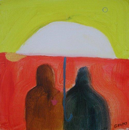 umbrella (acrylic on canvas; 30x30cm) 2007