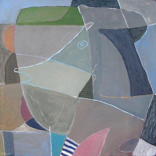 face the music (acrylic on canvas; 40x40cm) 2007